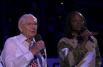 Robert McClintock & Sonya Bryson sing the National Anthem