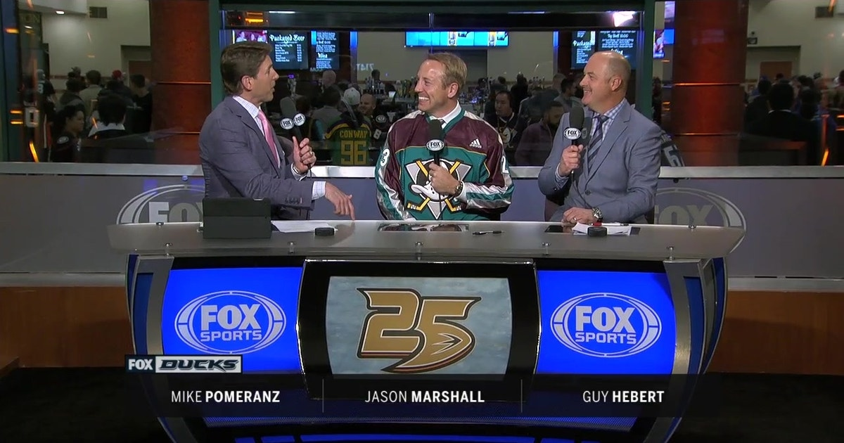 Jason Marshall joins the set to talk about his early playing days with the Ducks   Ducks Live