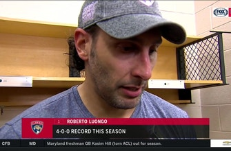 Roberto Luongo on Panthers: We're feeling confident no matter the situation