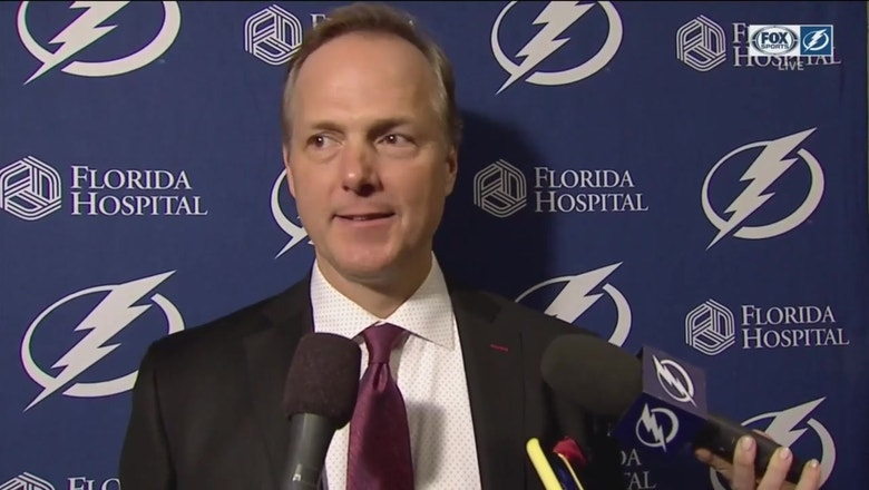 Jon Cooper: Adam Erne's line was the catalyst for us