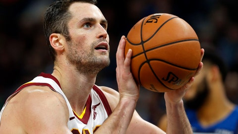 <p>               FILE - In this Oct. 19, 2018, file photo, Cleveland Cavaliers' Kevin Love shoots a free throw in the second half of an NBA basketball game  against the Minnesota Timberwolves in Minneapolis. Love underwent successful surgery today at the Hospital for Special Surgery in New York City, by Dr. Martin O'Malley, to address continued left foot symptoms. (AP Photo/Jim Mone, File)             </p>