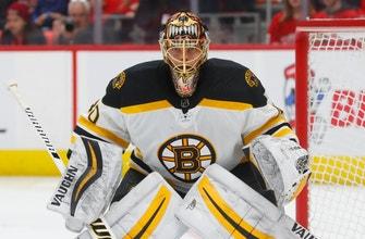 Bruins' goaltender Rask back at practice after 3-day leave