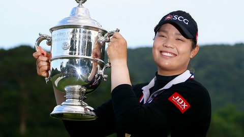 <p>               FILE - In this June 3, 2018, file photo, Ariya Jutanugarn, of Thailand, holds up the trophy after winning in a four hole playoff during the final round of the U.S. Women's Open golf tournament at Shoal Creek,  in Birmingham, Ala. Jutanugarn is already the LPGA's player of the year and leading moneywinner this season. She'll look to cap the season with a win in the CME Group Tour Championship that begins Thursday, Nov. 15. (AP Photo/Butch Dill, File)             </p>