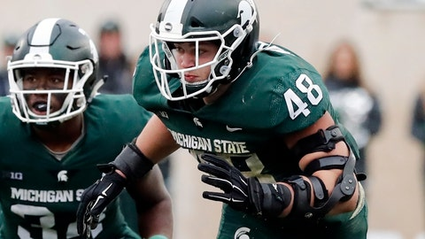 <p>               FILE - In this Oct. 20, 2018, file photo, Michigan State defensive end Kenny Willekes rushes the line during the second half of an NCAA college football game against Michigan in East Lansing, Mich. Ohio State visits Michigan State needing a win to stay on track for a Big Ten East showdown with Michigan in two weeks. (AP Photo/Carlos Osorio, File)             </p>