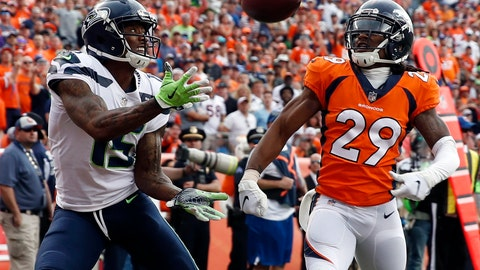 <p>               FILE - In this Sept. 9, 2018, file photo, Seattle Seahawks wide receiver Brandon Marshall, left, hauls in a touchdown pass in the end zone as Denver Broncos defensive back Bradley Roby (29) looks on during the second half of an NFL football game in Denver. One week after signing, then losing receiver Dez Bryant to an injury, the Saints welcomed another aging star, Brandon Marshall, to their receiver corps. (AP Photo/David Zalubowski, File)             </p>
