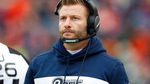 <p>               FILE - In this Sunday, Oct. 14, 2018 file photo, Los Angeles Rams head coach Sean McVay watches during the second half of an NFL football game against the Denver Broncos in Denver. The Chiefs (9-1) visit the Rams (9-1) in a game originally scheduled for Mexico City before poor field conditions at Azteca Stadium prompted the NFL to move the game to California on six days' notice. Instead, the Coliseum will host a prime-time meeting of two incredibly prolific offenses masterminded by two coaches separated by 28 years of age, but together on the cutting edge of football.(AP Photo/Joe Mahoney, File)             </p>