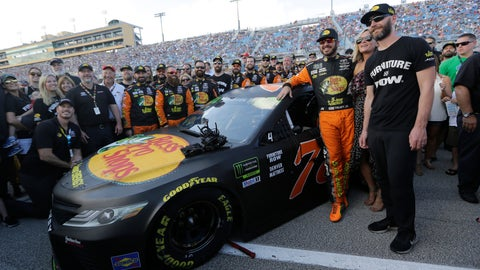 <p>               Martin Truex Jr., third from right, poses for a photo with his crew before a NASCAR Series Championship auto race at Homestead-Miami Speedway, Sunday, Nov. 18, 2018, in Homestead, Fla. (AP Photo/Lynne Sladky)             </p>