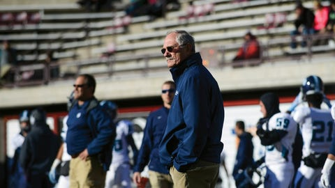 <p>               FILE - In this Nov. 29, 2014, file photo, San Diego head coach Dale Lindsey watches from the sideline before the start of an NCAA college football playoff game against Montana, in Missoula, Mont. The University of San Diego is in the FCS playoffs for the third straight year under 75-year-old coach Dale Lindsey and senior quarterback Anthony Lawrence. It's a terrific accomplishment, considering that the Toreros don't offer football schoarlships and it costs $65,426 a year to attend the small Catholic school known for its Spanish Renaissance architecture and a million-dollar view of Mission Bay and the Pacific Ocean.  (AP Photo/Lido Vizzutti, File)             </p>