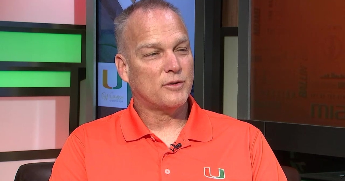 Mark Richt explains the importance of younger Miami players getting reps