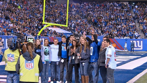 <p>               In a photo provided by Justin Fountain, the team with the highest fundraising amount for a Touch of Football event stands on the field during a New York Giants football game Dec. 4, 2011, in East Rutherford, N.J. On Sunday, the eighth annual New Jersey tournament will take place at MetLife Stadium and is projected to raise nearly $115,000 for the Crohn's & Colitis Foundation. (Justin Fountain via AP)             </p>