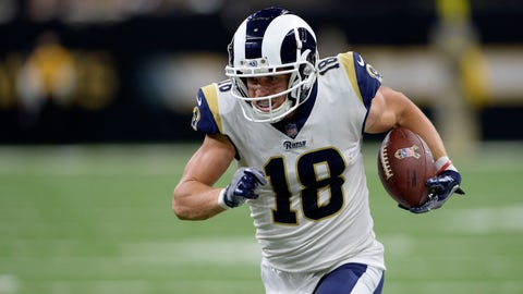 <p>               FILE - In this Nov. 4, 2018, file photo, Los Angeles Rams wide receiver Cooper Kupp (18) carries for a touchdown in the second half of an NFL football game against the New Orleans Saints, in New Orleans. Kupp is out for the season after tearing a ligament in his left knee. Coach Sean McVay on Monday, Nov. 12, 2018, confirmed the injury for Kupp, who led the Rams in yards receiving last season. Kupp was hurt on a noncontact play during the Rams' 36-31 victory over the Seattle Seahawks. (AP Photo/Bill Feig, FIle)             </p>