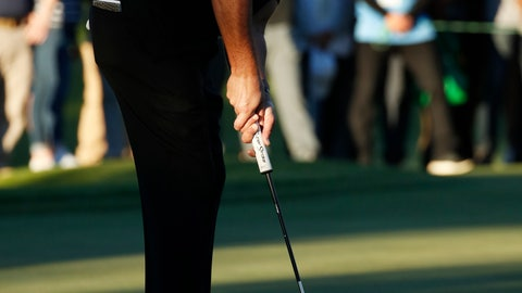<p>               Phil Mickelson watches a putt on the 16th green during a match against Tiger Woods at Shadow Creek golf course Friday, Nov. 23, 2018, in Las Vegas. (AP Photo/John Locher)             </p>
