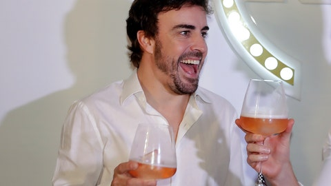 <p>               McLaren driver Fernando Alonso, of Spain, makes a toast during a promotion event made by one of his sponsors, in Sao Paulo, Brazil, Wednesday, Nov. 7, 2018. Alonso will compete Sunday in the Brazilian Formula One Grand Prix at Sao Paulo's Interlagos circuit. (AP Photo/Andre Penner)             </p>