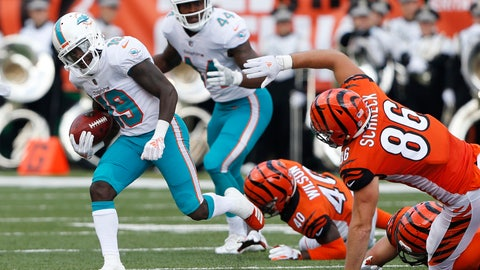 <p>               FILE - In this Oct. 7, 2018, file photo, Miami Dolphins' Jakeem Grant (19) returns a punt by the Cincinnati Bengals for a touchdown during the first half of an NFL football game in Cincinnati. Grant beat out Kansas City's Tyreek Hill as the NFL's top returner in 2018 in voting released Friday by a panel of 10 football writers for The Associated Press. (AP Photo/Frank Victores, File)             </p>
