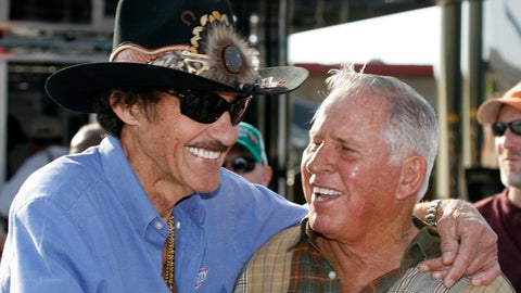 <p>               FILE - In this Friday, March 6, 2009 file photo, former NASCAR drivers Richard Petty, left, and David Pearson share a laugh during practice for the Kobalt 500 NASCAR Sprint CUp auto race at Atlanta Motor Speedway in Hampton, Ga. NASCAR's Silver Fox David Pearson has died at 83. Pearson was a three-time Cup champion and his 105 career victories trail only Richard Petty's 200 wins on NASCAR's all-time list. (AP Photo/Glenn Smith, File)             </p>