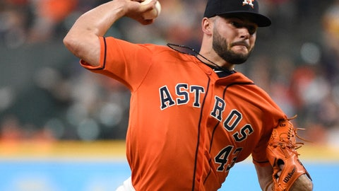 <p>               FILE - In this July 6, 2018, file photo, Houston Astros starting pitcher Lance McCullers Jr. delivers during the first inning of the team's baseball game against the Chicago White Sox in Houston. McCullers will miss all of next season following Tommy John surgery. Houston announced he had the ulnar collateral ligament in his right elbow repaired Tuesday, Nov. 6. (AP Photo/Eric Christian Smith, File)             </p>