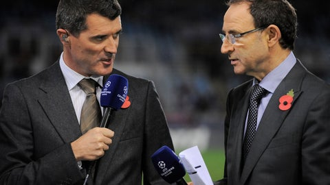 <p>               FILE - In this Tuesday, Nov. 5, 2013 file photo, newly appointed Ireland national soccer team coach Martin O'Neill, right, and Roy Keane, who will be his assistant, speak before Manchester United and Real Sociedad face each other in a Champions League Group A soccer match at Anoeta stadium in San Sebastian, northern Spain. Martin O'Neill has ended his five-year stint as Ireland coach and has taken assistant Roy Keane with him. (AP Photo/Alvaro Barrientos, File)             </p>