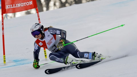 <p>               Norway's Ragnhild Mowinckel competes during the first run of the alpine ski, women's World Cup giant slalom in Killington, Vt., Saturday, Nov. 24, 2018. (AP Photo/Charles Krupa)             </p>