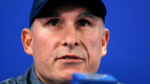 <p>               Craig Berube speaks during a news conference after being named interim head coach of the St. Louis Blues NHL hockey team Tuesday, Nov. 20, 2018, in St. Louis. The Blues fired head coach Mike Yeo following a 2-0 loss to the Los Angeles Kings Monday night. (AP Photo/Jeff Roberson)             </p>