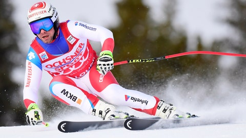 <p>               Beat Feuz of Switzerland skis down the course during a training run for the men's World Cup downhill ski race in Lake Louise, Alberta, on Thursday, Nov. 22, 2018. (Frank Gunn/The Canadian Press via AP)             </p>