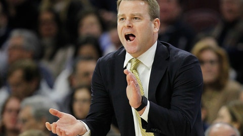<p>               FILE - In this Jan. 6, 2018, file photo, Marquette coach Steve Wojciechowski shouts from the sideline during the first half of the team's NCAA college basketball game against Villanova,  in Philadelphia. Marquette is back in the AP Top 25 poll for the first time in five years. (AP Photo/Laurence Kesterson, File)             </p>