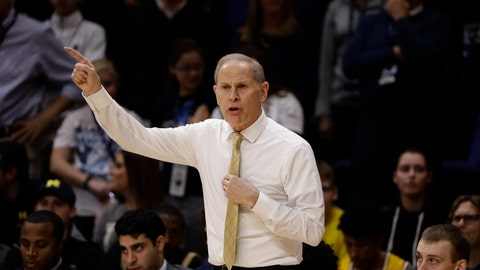 <p>               FILE - In this Nov. 14, 2018, file photo, Michigan head coach John Beilein gestures during an NCAA college basketball game against Villanova in Villanova, Pa. Michigan's follow-up to its national championship game appearance has been impressive so far. Despite losing three key players, the defensive-minded Wolverines have yet to lose this season and blew out then-No. 8 Villanova in a rematch to the national title game. (AP Photo/Matt Slocum, File)             </p>