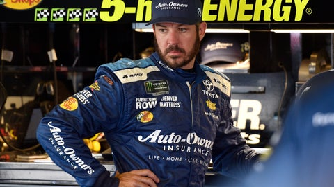 <p>               FILE - In this July 28, 2018, file photo, Martin Truex Jr. looks over his car in the garage during practice for the NASCAR Cup Series auto race in Long Pond, Pa.  Truex is one NASCAR's four title contenders for Sunday's championship race. The others are Kevin Harvick, Kyle Busch and Joey Logano. (AP Photo/Derik Hamilton, File)             </p>