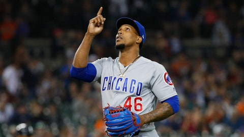 <p>               FILE - In this Aug. 22, 2018 file photo Chicago Cubs relief pitcher Pedro Strop celebrates the final out of the eighth inning of the team's baseball game against the Detroit Tigers in Detroit. The Cubs have exercised their $6.25 million option for Strop, one of the baseball's most consistent relievers since he was acquired in a July 2013 trade with Baltimore. He went 6-1 with 13 saves and a 2.26 ERA in 60 appearances last season. (AP Photo/Paul Sancya, file)             </p>