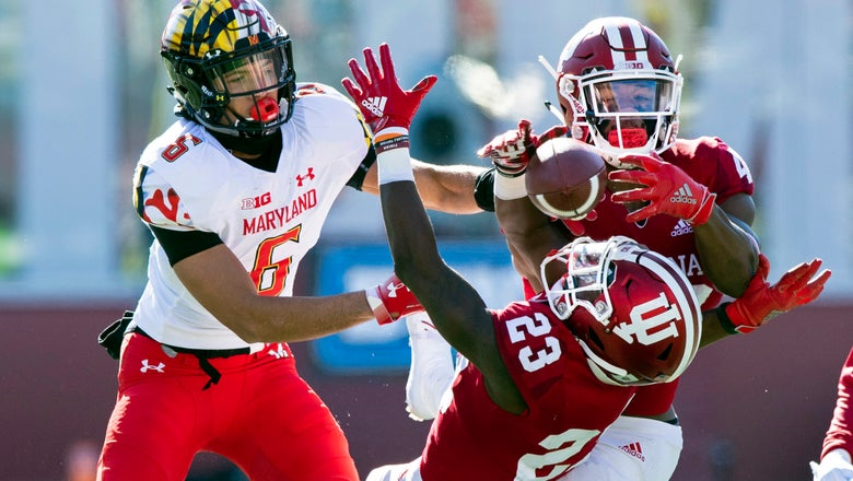 Hoosiers keep bowl hopes intact by beating Maryland 34-32