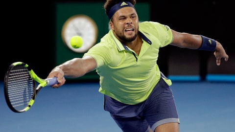 <p>               FILE - In this Friday, Jan. 19, 2018 file photo, France's Jo-Wilfried Tsonga reaches for a forehand to Australia's Nick Kyrgios during their third round match at the Australian Open tennis championships in Melbourne, Australia. Yannick Noah guided France to Davis Cup titles in 1991, 1996 and 2017, but he will step down after this weekend and Amelie Mauresmo will take over. For his final match as captain of France Davis Cup team, Yannick Noah has been as meticulous as ever. (AP Photo/Dita Alangkara, File)             </p>