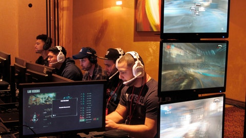 <p>               FILE - In this March 31, 2017, file photo, video game players compete against one another in an esports tournament at Caesars casino in Atlantic City, N.J. The commissioner of the Esports Integrity Coalition says skill-based betting on battle royale games like Fortnite and PlayerUnknown's Battleground could be vulnerable to cheating. Esports gambling website Unikrn announced plans last month to bring legal skill-based betting to the U.S., allowing users to wager on themselves in games like Fortnite and PlayerUnknown's Battleground. Users would link their game to the Unikrn platform, and Unikrn will generate odds for the player based on his or her profile within the game. ESIC Commissioner Ian Smith says such wagering is likely to be popular, but he's concerned the industry is not yet prepared to govern it.  (AP Photo/Wayne Parry, File)             </p>