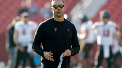 "<p>               File-This Oct. 27, 2018, file photo shows Texas Tech head coach Kliff Kingsbury standing on the field before an NCAA college football game against Iowa State, in Ames, Iowa. A win in their regular season finale at Texas last season likely saved Kingsbury's job. It is unclear what impact, if any, the outcome of this game might have on Kingsbury's future. ""Dealt with a lot of that last year, and this year the focus has just been on our team and our program and these seniors, and so that's what my focus is this week is, hey, how can we extend this season for these seniors,"" Kingsbury said.  (AP Photo/Charlie Neibergall, File)             </p>"