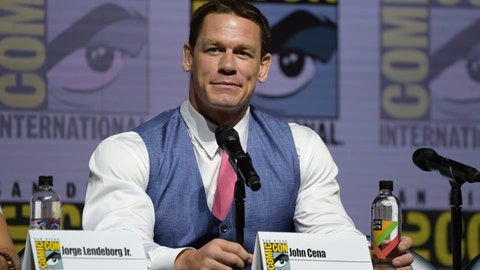 "<p>               FILE - In this July 20, 2018, file photo, John Cena attends the ""Bumblebee"" panel on day two of Comic-Con International in San Diego. WWE Superstar John Cena is the recipient of this year's Sports Illustrated Muhammad Ali Legacy Award. The award, which was announced on Thursday, Nov. 29, 2018, is given each year to an athlete or sports figure who embodies the ideals of sportsmanship, leadership and philanthropy while using sports as a platform.(Photo by Richard Shotwell/Invision/AP, File)             </p>"