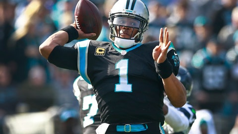 <p>               Carolina Panthers' Cam Newton (1) looks to pass against the Seattle Seahawks during the first half of an NFL football game in Charlotte, N.C., Sunday, Nov. 25, 2018. (AP Photo/Jason E. Miczek)             </p>