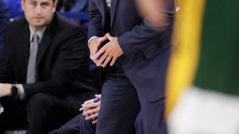<p>               Gonzaga head coach Mark Few shouts to his team during the first half of an NCAA college basketball game against North Dakota State in Spokane, Wash., Monday, Nov. 26, 2018. (AP Photo/Young Kwak)             </p>