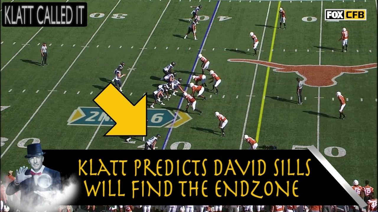 hot sale online f22e4 fea6c Klatt Called It: Joel predicts David Sills' TD for West Virginia