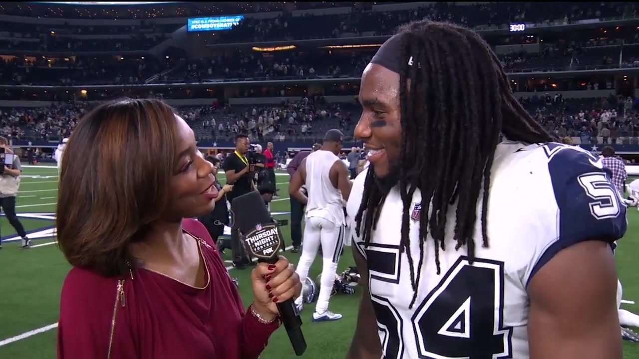 610b02d303c Kristina Pink talks with Jaylon Smith after the Cowboys' huge Thursday  Night win over the Saints | FOX Sports