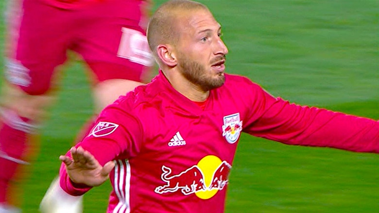 New York Red Bulls' Daniel Royer nets brace against the Columbus Crew | Audi 2018 MLS Cup Playoffs