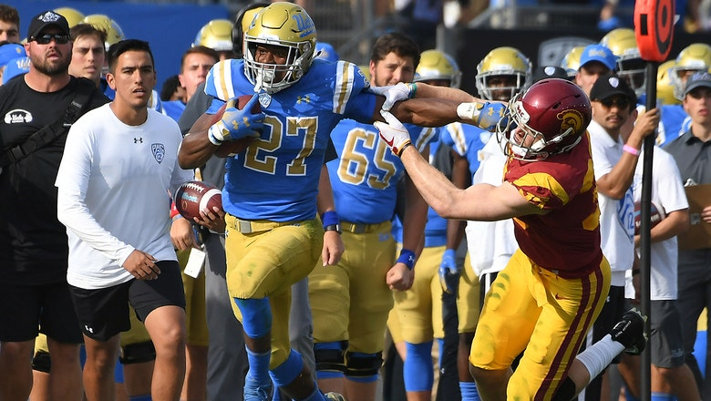 Joshua Kelley's 289 rushing yards help UCLA stun USC 34-27 to claim the Victory Bell