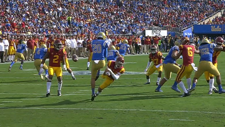 USC takes the lead over UCLA after blocked punt is returned for a touchdown