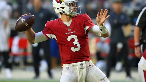 <p>               Arizona Cardinals quarterback Josh Rosen (3) throws against the Oakland Raiders during the second half of an NFL football game, Sunday, Nov. 18, 2018, in Glendale, Ariz. (AP Photo/Ross D. Franklin)             </p>