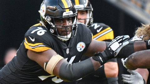 <p>               FILE - In this Aug. 25, 2018, file photo, Pittsburgh Steelers offensive tackle Chuks Okorafor (76) plays against the Tennessee Titans in an NFL preseason football game in Pittsburgh. Okorafor has long admired Denver linebacker Von Miller. The 21-year-old rookie could get an up-close look on Sunday when the Steelers visit the Broncos. (AP Photo/Don Wright, File)             </p>