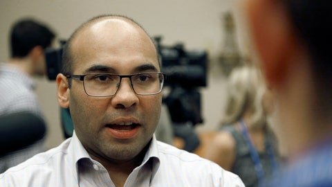 <p>               FILE - In this Wednesday, Nov. 9, 2016 file photo, Los Angeles Dodgers general manager Farhan Zaidi talks with the media during baseball's annual general managers meeting in Scottsdale, Ariz. A person with direct knowledge of the agreement says Dodgers general manager Farhan Zaidi has accepted a job to head baseball operations for the San Francisco Giants. The person spoke on condition of anonymity Tuesday night, Nov. 6, 2018 because the club had yet to make a formal announcement.(AP Photo/Ross D. Franklin, File)             </p>