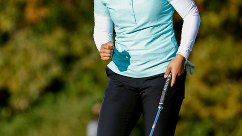 <p>               Nasa Hataoka of Japan reacts after making birdie on 18th hole at Seta Golf Club during the second round of the Japan Classic in Otsu city, Shiga prefecture, Japan Saturday, Nov. 3, 2018. Hataoka shot a 69 and was tied for third with Jiyai Shin of South Korea.(Kyodo News via AP)             </p>