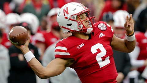 <p>               FILE - In this Sept. 29, 2018, file photo, Nebraska quarterback Adrian Martinez (2) throws a pass during the first half of an NCAA college football game against Purdue in Lincoln, Neb. Work-in-progress Nebraska may be the tonic for what ails No. 8 Ohio State. The Buckeyes had had a bye week to stew over the improbable Oct. 20 loss to Purdue when their running game and defense were inexplicably absent. Nebraska is improving but will come into Ohio Stadium as a four-touchdown underdog. The Huskers are led by a freshman dual-threat quarterback and senior tailback that have help revive their running game. (AP Photo/Nati Harnik, File)             </p>