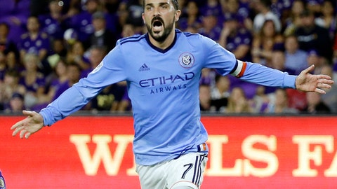 <p>               FILE - In this May 21, 2017 file photo, New York City FC's David Villa (7) celebrates his second-half goal during an MLS soccer game against Orlando City in Orlando, Fla. Villa, one of the biggest stars in MLS, is leaving New York City FC. The Spanish star and World Cup winner spent four seasons with the club as its first captain. He plans to continue playing, but has not said where. (AP Photo/John Raoux, File)             </p>
