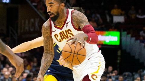<p>               FILE - In this Oct. 8, 2018, file photo, Cleveland Cavaliers guard J.R. Smith (5) dribbles to the basket during the first quarter of a preseason NBA basketball game against the Indiana Pacers in Cleveland. Unhappy with his new role, Smith said he hopes the team trades him. Smith hasn't formally requested a trade, but said Thursday, Nov. 1, 2018, that Cleveland's front office knows he wants out.  (AP Photo/Scott R. Galvin, File)             </p>