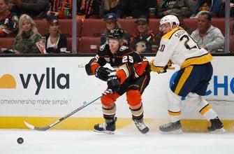 Ducks win in shootout, deal Predators first road loss