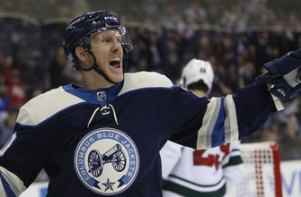 Nash notches goal and assist as Blue Jackets beat Wild, 4-2