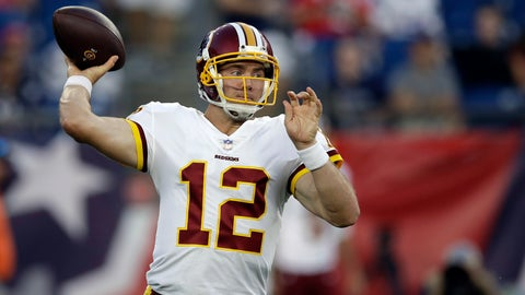 <p>               FILE - In this Aug. 9, 2018 file photo Washington Redskins quarterback Colt McCoy passes against the New England Patriots during the first half of a preseason NFL football game in Foxborough, Mass. McCoy hasn't started a game in four years. His next one will be on Thanksgiving against the Dallas Cowboys, the last team he beat in a start for the Redskins in 2014. (AP Photo/Charles Krupa, file)             </p>